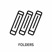 Folders Icon Isolated On White Background. Folders Icon Simple Sign. Folders Icon Trendy And Modern  poster
