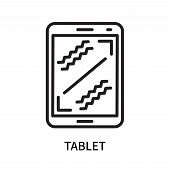 Tablet Icon Isolated On White Background. Tablet Icon Simple Sign. Tablet Icon Trendy And Modern Sym poster