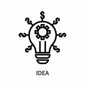 Idea Icon Isolated On White Background. Idea Icon Simple Sign. Idea Icon Trendy And Modern Symbol Fo poster