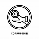 Corruption Icon Isolated On White Background. Corruption Icon Simple Sign. Corruption Icon Trendy An poster