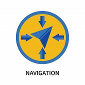Navigation Icon Isolated On White Background. Navigation Icon Simple Sign. Navigation Icon Trendy An poster