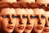 Sad Faces Background