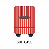 Suitcase Icon Isolated On White Background. Suitcase Icon Simple Sign. Suitcase Icon Trendy And Mode poster