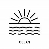 Ocean Icon Isolated On White Background. Ocean Icon Simple Sign. Ocean Icon Trendy And Modern Symbol poster