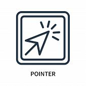 Pointer Icon Isolated On White Background. Pointer Icon Simple Sign. Pointer Icon Trendy And Modern  poster