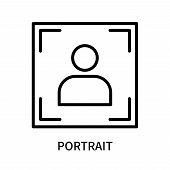 Portrait Icon Isolated On White Background. Portrait Icon Simple Sign. Portrait Icon Trendy And Mode poster