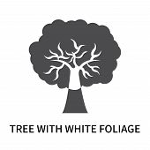 Tree With White Foliage Icon Isolated On White Background. Tree With White Foliage Icon Simple Sign. poster