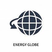 Energy Globe Icon Isolated On White Background. Energy Globe Icon Simple Sign. Energy Globe Icon Tre poster