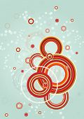 Abstract circles design. Vector background