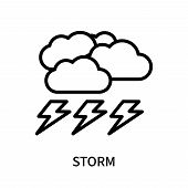 Storm Icon Isolated On White Background. Storm Icon Simple Sign. Storm Icon Trendy And Modern Symbol poster