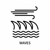 Waves Icon Isolated On White Background. Waves Icon Simple Sign. Waves Icon Trendy And Modern Symbol poster