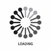 Loading Icon Isolated On White Background. Loading Icon Simple Sign. Loading Icon Trendy And Modern  poster
