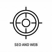 Seo And Web Icon Isolated On White Background. Seo And Web Icon Simple Sign. Seo And Web Icon Trendy poster