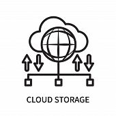 Cloud Storage Icon Isolated On White Background. Cloud Storage Icon Simple Sign. Cloud Storage Icon  poster