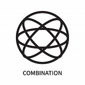 Combination Icon Isolated On White Background. Combination Icon Simple Sign. Combination Icon Trendy poster