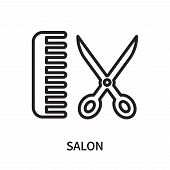 Salon Icon Isolated On White Background. Salon Icon Simple Sign. Salon Icon Trendy And Modern Symbol poster