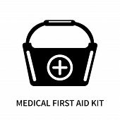 Medical First Aid Kit Icon Isolated On White Background. Medical First Aid Kit Icon Simple Sign. Med poster