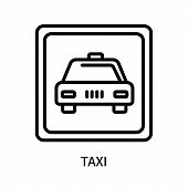 Taxi Icon Isolated On White Background. Taxi Icon Simple Sign. Taxi Icon Trendy And Modern Symbol Fo poster