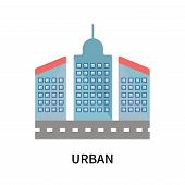Urban Icon Isolated On White Background. Urban Icon Simple Sign. Urban Icon Trendy And Modern Symbol poster