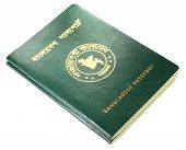 Close up of Bangladeshi passport