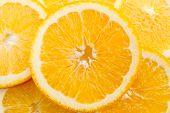 Fresh Orange Slices. Orange Background. Slices Of Orange. poster