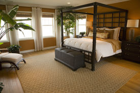 pic of master bedroom  - Designer bedroom with contemporary furniture and decor - JPG