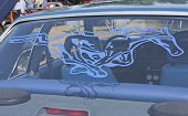 1980 Blue Ford Mustang Rear Window Decal