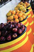 Fruit On Barrels