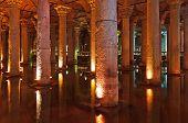 image of cistern  - Underground water Basilica Cistern  - JPG