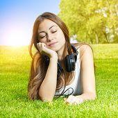 Happiness Girl Enjoying Nature