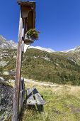 Wayside shrine in the north italian alps