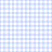 Seamless Light Blue Gingham Plaid