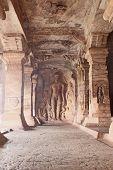 Sculpture At Entrance Of Cave At Badami, Karnataka, India, Asia