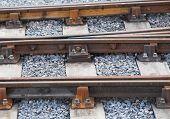 Detail Of Railway Tracks