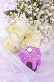 sweet pink wedding chocolate tartlet