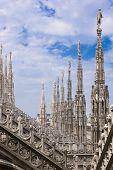 Spiers van de kathedraal van Milaan