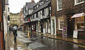 A Rainy High Petergate Scene, York, England