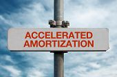 Street Sign - Accelerated Amprtization