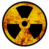 foto of polution  - Nuclear sign representing the danger of radiation - JPG