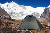 camping under cho oyu - cho oyu base camp - nepal