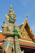 Giant Stand Guard In Wat Phra Keaw, Bangkok Thailand