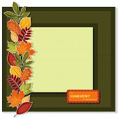 Vector fall frame with text