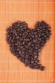 Coffee-beans heart