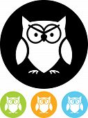 Vector Icon Isolated On White - Owl