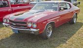 1970 Red Black Chevy Chevelle Ss