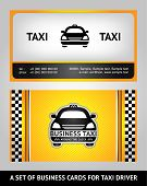 Business cards taxi set