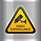 CCTV symbol, on a chromium background