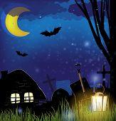 Scary Night Landscape
