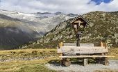 Wayside shrine in the italian alps, Europe