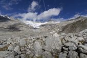 Hiking near Neves Glacier, Northern Italy